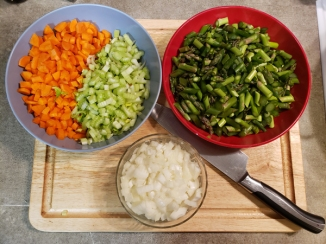 Asparagus Soup Veg Prep